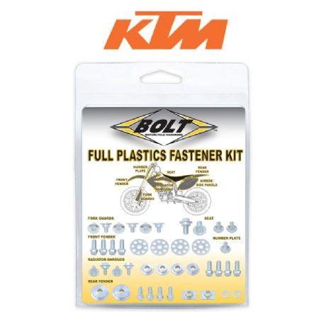 BOLT HARDWARE KTM FULL PLASTIC FASTENER KIT 04-07 EXC